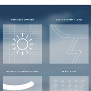 Link toCreative outline weather icons vector free