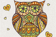 Link toCreative owl pattern vector