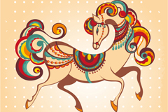 Link toCreative paint horse vector