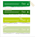 Link toCreative paper banner vector