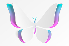 Creative paper butterfly design vector