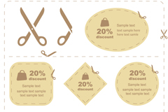 Link toCreative paper cutting coupons vector