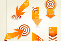 Link toCreative paper-cutting target and arrow vector