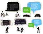 Link toCreative paper dialog box vector