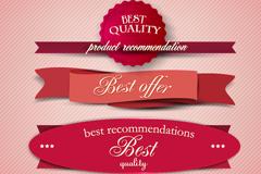 Link toCreative paper ribbon tag vector