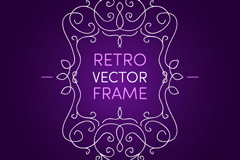 Link toCreative pattern border end of purple background vector