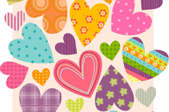 Link toCreative patterns love seamless background vector