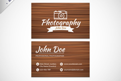 Creative photographer business cards designs vectors