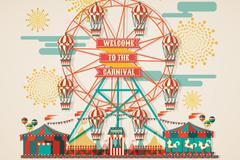 Link toCreative playground ferris wheel vector illustration