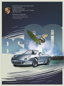 Link toCreative porsche posters sailing blue sky footage psd