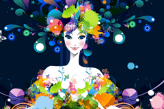 Link toCreative printing women vector illustration