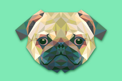 Link toCreative pug avatar design vector