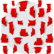 Link toCreative red ribbons bookmarks vector set 04 free