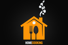 Link toCreative restaurant logo design vector