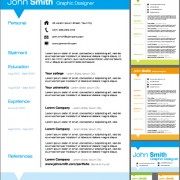 Link toCreative resume template design vector 02 free