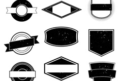 Link toCreative retro black and white tag vector