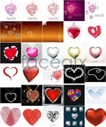 Link toCreative romantic heart-shaped vector