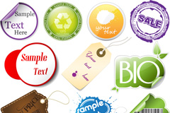 Link toCreative sales tags stickers vector