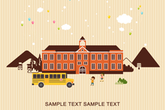 Link toCreative school campus vector illustration