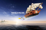 Link toCreative ship sea world psd