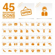 Link toCreative shopping icons stickers vector 02 free