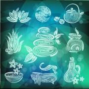 Link toCreative spa design element vector set 04 free