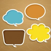 Link toCreative speech bubble for your text design vector 03 free