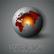 Link toCreative sphere and metal background vector 03 free
