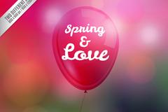 Link toCreative spring balloons vector