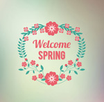 Link toCreative spring wreath vector