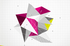 Link toCreative stereo-shaped background vector