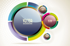 Creative stitching circle vector background