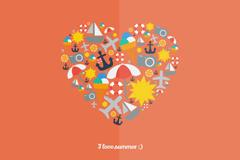 Link toCreative summer background cartoon vector
