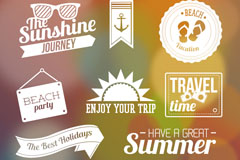 Link toCreative summer element tag vector