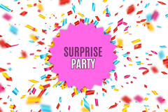 Link toCreative surprise party poster vector