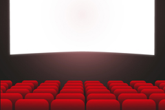 Link toCreative theater background vector