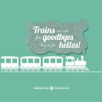 Link toCreative trains vector