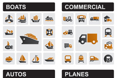 Creative transport icon vector