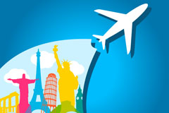 Link toCreative travel background vector