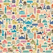 Link toCreative travel elements seamless pattern vector free
