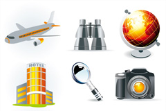 Creative travel icon vector