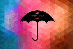 Link toCreative umbrellas mosaic background vector