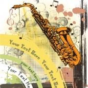 Link toCreative vintage music background vector set 07
