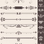 Link toCreative vintage ornaments with borders vector free