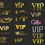 Link toCreative vip golden logos vector free