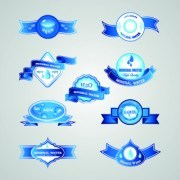 Link toCreative water elements labels vector