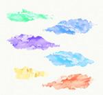 Link toCreative watercolor clouds vector