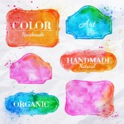 Link toCreative watercolor labels vector 01 free