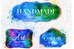 Link toCreative watercolour label design vector