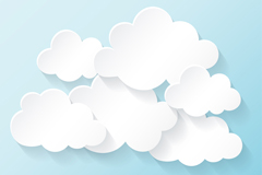 Link toCreative white clouds vector
